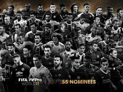 55 Spieler sind für die Welt-Elf der FIFA nominiert (Bildquelle: twitter.com/fifacom)