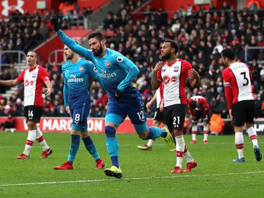 Oivier Giroud traf kurz vor Schluss gegen Southampton