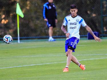 Marcos Rojo en un entrenamiento de la selección argentina. (Foto: Getty)