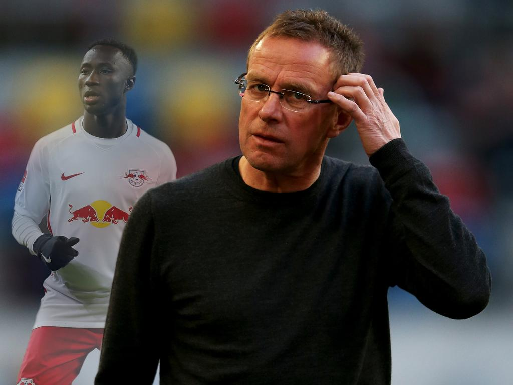 RB Leipzigs Mittelfeldspieler Naby Keita im Pokal dabei