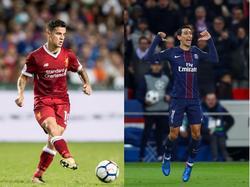 Philippe Coutinho (l.) und Ángel Di María sollen weiterhin von Barcelona umworben werden