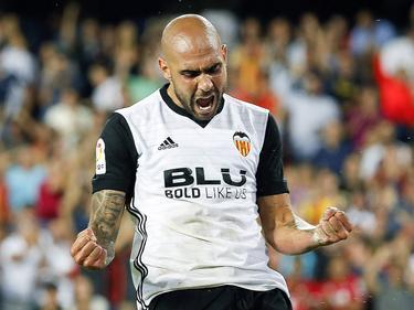 Zaza brilló en Mestalla contra un débil Málaga. (Foto: Imago)
