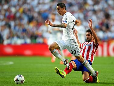 Di María con la camiseta del Real Madrid en 2014. (Foto: Getty)