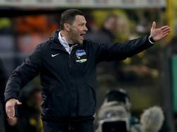 Hertha-Trainer Pál Dárdai blickt enttäuscht zurück auf die Reise in den Ruhrpott