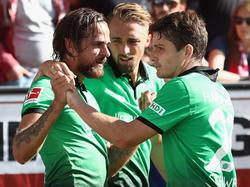 Hannover 96 feierte dank Martin Harnik (li.) einen Auftaktsieg in Mainz