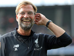 Jürgen Klopp sonríe antes de jugar contra el Hertha este verano. (Foto: Getty)