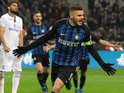 Icardi ya lleva 13 goles esta temporada. (Foto: Getty)
