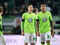 Julian Draxler (M.) wurde von den Wolfsburg-Fans ausgepfiffen