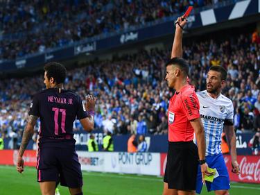 Vom Platz gestellt und verloren Neymar und der FC Barcelona blamieren sich in Malaga