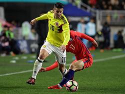 James Rodríguez wurde gegen Südkorea vermeintlich schwer getroffen