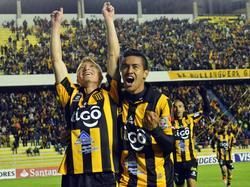 El gol de Chumacero (izq.) fue como gasolina para The Strongest que se sintió más motivado para ir al ataque. (Foto: Imago)
