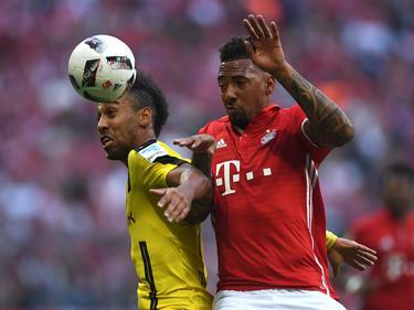 Boateng (dcha.) en un duelo contra el Dortmund hace unos días. (Foto: Getty)