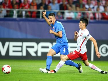 Martin Valjent (li.) erzielte den zwischenzeitlichen Ausgleich für die Slowakei