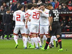 Mainz freut sich gegen Leverkusen über einen wichtigen Auswärtsdreier