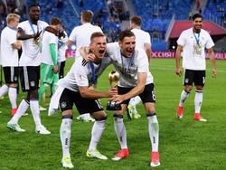 Leon Goretzka (r.) und Joshua Kimmich gehören zu den Gewinnern des Confed Cups