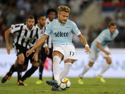 Ciro Immobile war für Lazio mit einem Doppelpack erfolgreich
