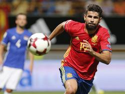 Diego Costa, en un partido con la selección. (Foto: Imago)