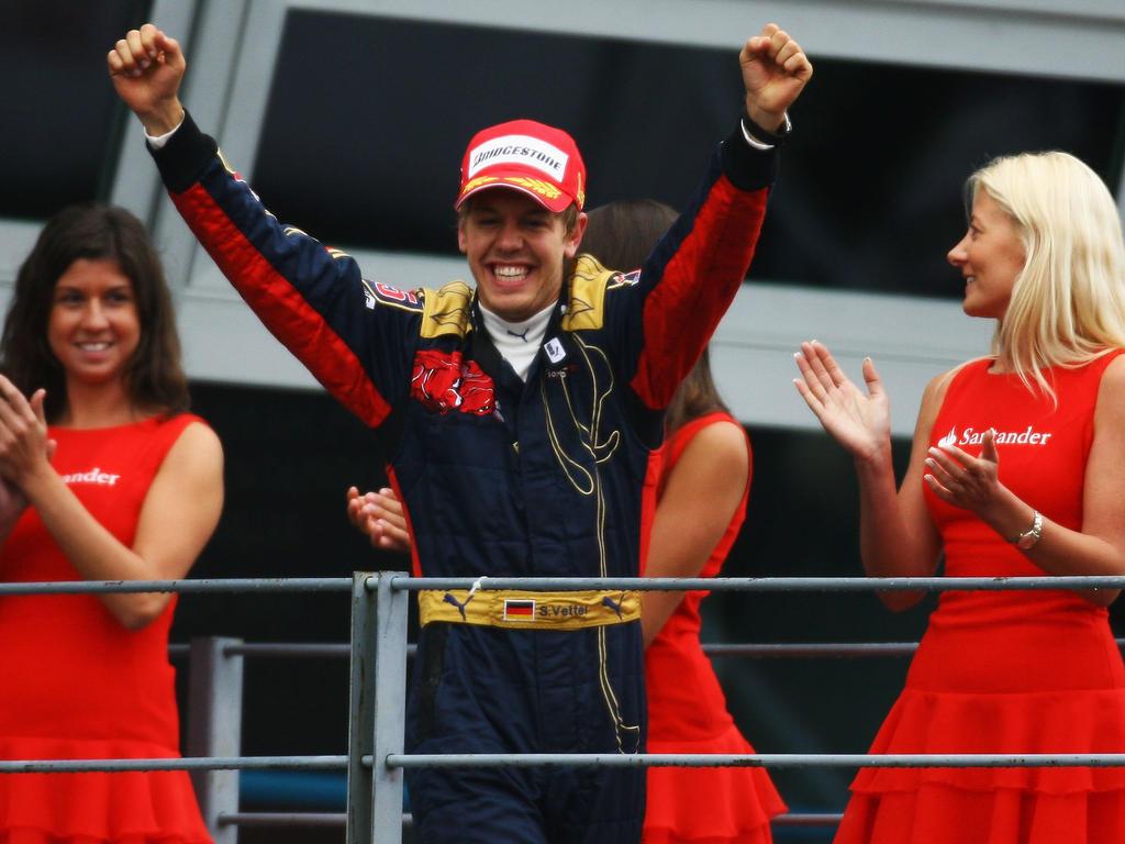 Sebastian Vettel wurde in Monza 2008 zum bis dahin jüngsten Grand-Prix-Sieger aller Zeiten