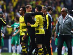 Tuchel y sus hombres celebran la clasificación para Champions. (Foto: Getty)