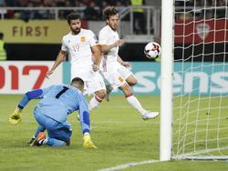 Diego Costa anotó el segundo gol español en Macedonia. (Foto: Imago)