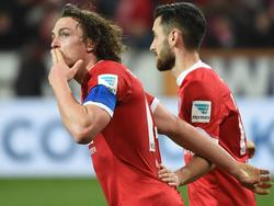 Julian Baumgartlinger traf in seinem 112. Bundesligaspiel zum ersten Mal