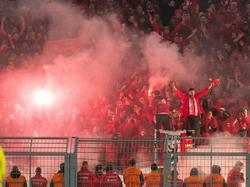 Die Fans von Union brannten in Dortmund Pyrotechnik ab