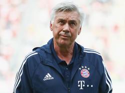 Ancelotti no está pasando su mejor momento como técnico del Bayern. (Foto: Getty)