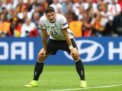 Mario Gomez geht das Spiel gegen die Slowakei konzentriert an