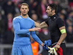 Manuel Neuer (l.) und Gianluigi Buffon stehen beim Viertelfinale im Blickpunkt