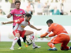 Die Hertha tat sich äußerst schwer bei Drittligist Jahn Regensburg