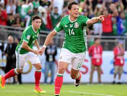 Hernández (r.) ist Mexikos Rekordtorschütze