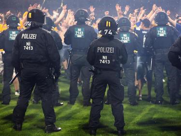 Nach dem Abpfiff sorgten die Eintracht-Fans für Ärger