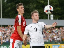 Cedric Teuchert gegen Österreichs U19
