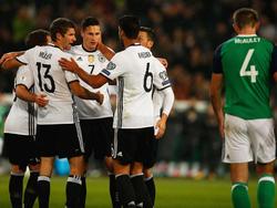 Die deutsche Mannschaft setzte sich problemlos gegen Nordirland durch