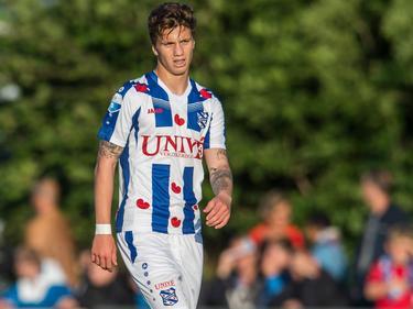 Luka Zahovič maakt speelminuten tijdens het oefenduel sc Heerenveen - FC Emmen (08-07-2016).