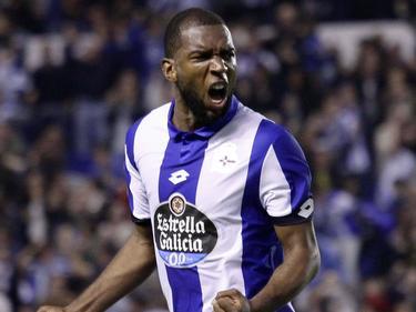 Ryan Babel celebrando su gol en LaLiga contra el Gijón. (Foto: Getty)