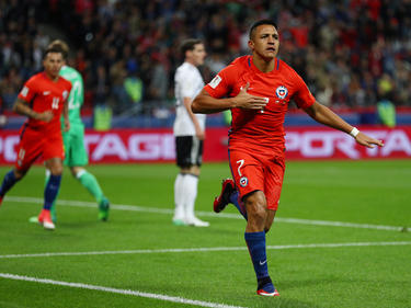 Alexis Sánchez anota con la selección chilena. (Foto: Getty)