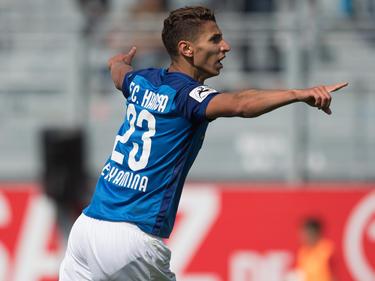 Soufian Benyamina traf doppelt für Hansa Rostock