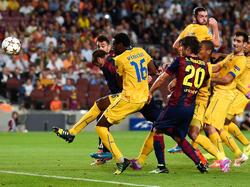 Piqué erzielt die Führung für Barcelona