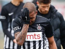 Éverton Luiz war nach dem Spiel sichtlich mitgenommen