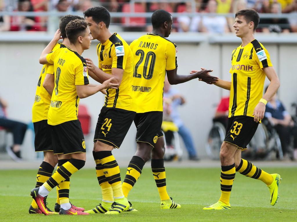 Der BVB feierte einen souveränen Sieg gegen Halle
