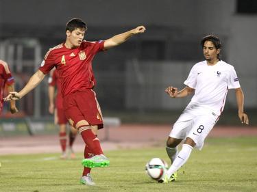 Jorge Meré und die spanische Auswahl zogen nach einem 2:0 gegen Frankreich in das Finale ein