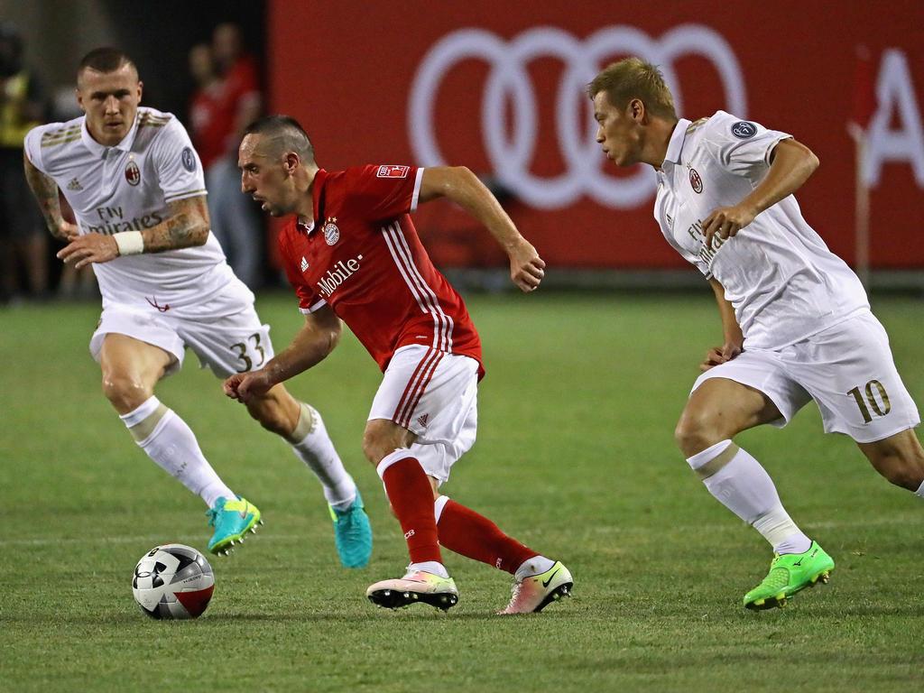 Franck Ribéry und die Bayern unterlagen dem AC Milan