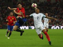 David Silva (li.) und die spanischen Nationalmannschaft entführten ein 2:2 aus dem Wembley-Stadion