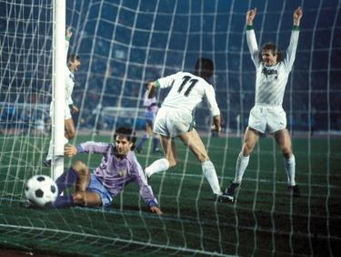 Die Borussia aus Mönchengladbach erlebte 1985 gegen Real Madrid ihr blaues Wunder