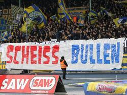 Braunschweiger Fan-Banner im Heimspiel gegen Erzgebirge Aue