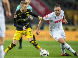 Marco Reus (l.) bewahrte den BVB vor einer Niederlage in Köln