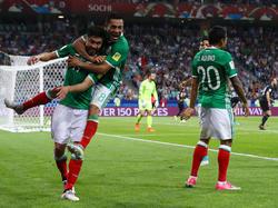 Celebración de México en el duelo ante Nueva Zelanda. (Foto: Getty)