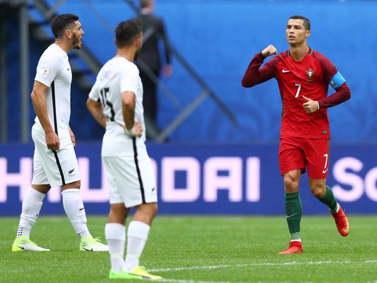 Ronaldo (dcha.) anotó el primero desde el punto de penalti. (Foto: Getty)
