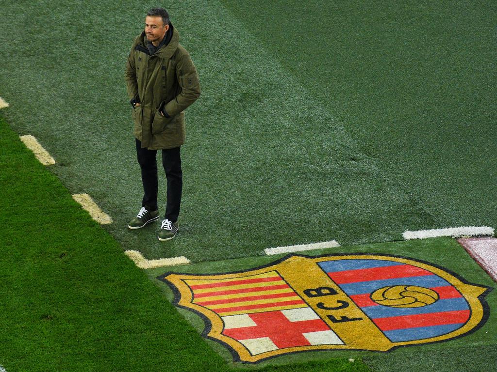 Luis Enrique no paró quieto en la zona técnica del Camp Nou. (Foto: Getty)